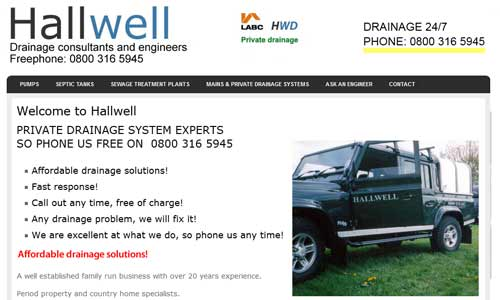 Hallwell website design