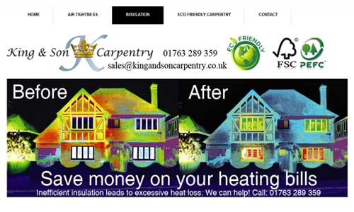King & Son Carpentry website design