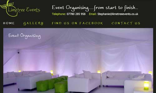 Limetree Events website