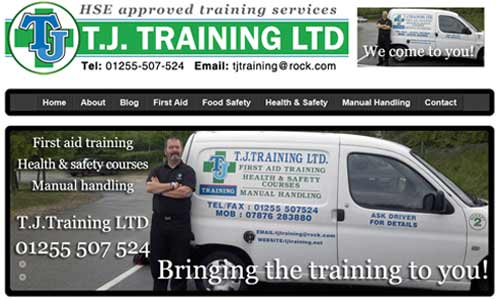 TJ Training website
